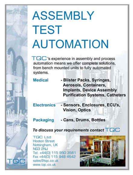 assembly and test automation from tqc